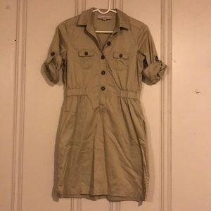Khaki Safari/Cargo Dress